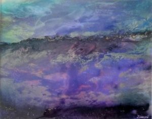 Alcohol Ink Mountain Crest