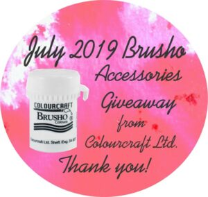 July 2019 Brusho Accessories Giveaway