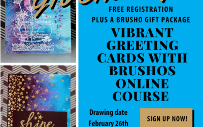 Vibrant Greeting Cards and Brusho Gift Package GIVEAWAY!