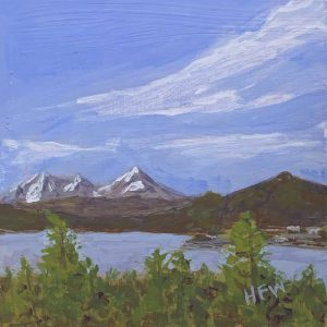 "Lake Dillon, CO, 4"" x 4"""