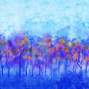 Blue Fall Digital mixed media painting