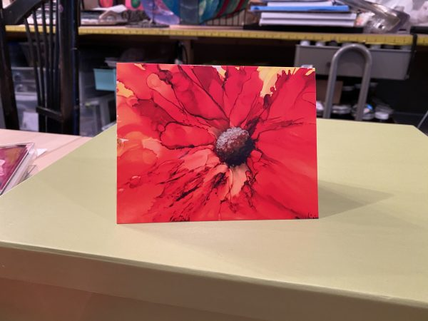 Note cards alcohol inks