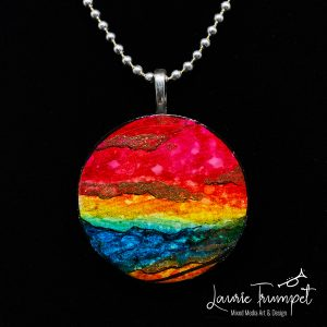 Rainbow Painted Pendant